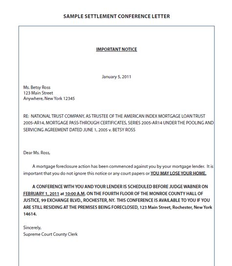 Mortgage Settlement Letter Foreclosure Letter Sle Book Covers
