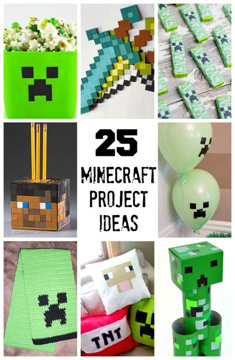 minecraft craft ideas for 25 minecraft projects will make and takes