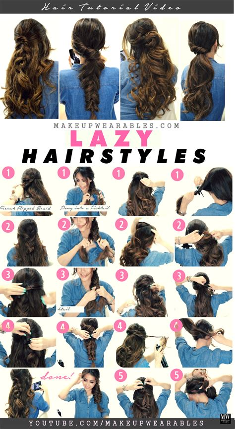 back to school winter hairstyles 4 easy lazy hairstyles for cold weather 5 minute hair