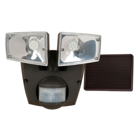 Shop Utilitech Pro 180 Degree 2 Head Black Solar Powered Solar Security Light Lowes