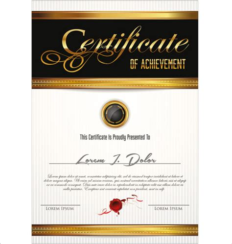 graphic design certificate europe vector template certificates design graphics free vector