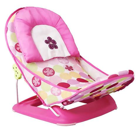 Sugar Baby Fold Up Infant Seat I Pink Baby Bouncer baby shower toddler summer infant newborn shower folding bath seat chaise portable folding
