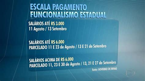 pagamento do servidor pblico estadual mes de fevereiro 2016 governo de mg divulga parcelamento de sal 225 rios dos