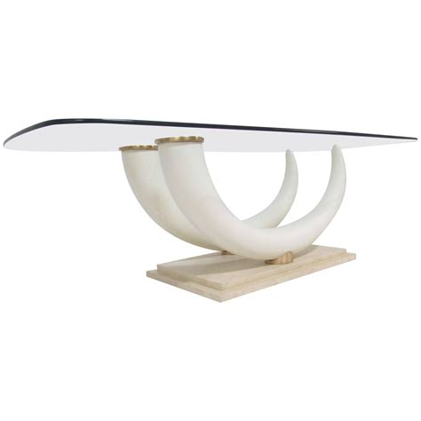 elephant tusk coffee table faux elephant tusk coffee table by maison jansen at 1stdibs