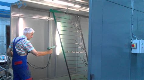 paint spray booth curing oven  track system youtube