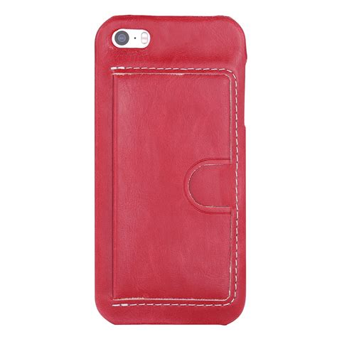 Pu Leather Slot Card Back Cover Casing Hp Samsung Note 5 slim pu leather back protective card slots cover for iphone se 6 6s plus