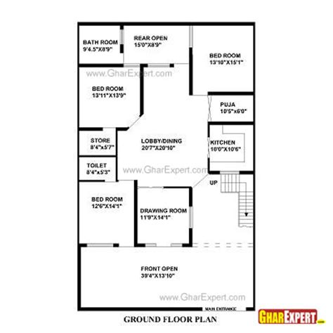 home design for 30x60 plot house plan for 41 feet by 66 feet plot plot size 301