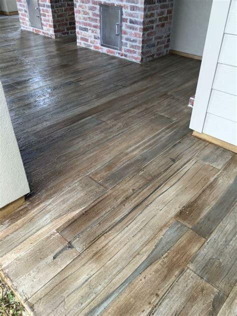 Exterior Concrete Wood Plank Floor   Concrete Photo