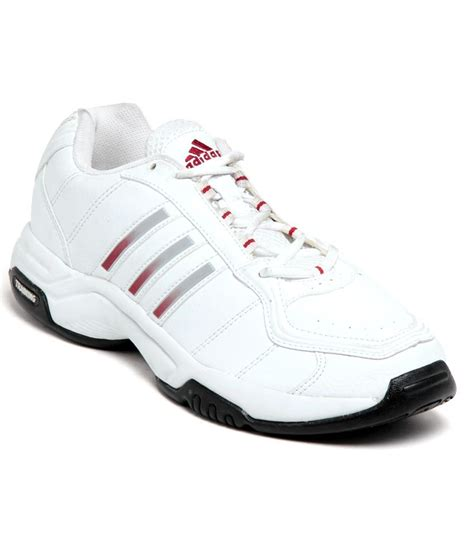 adidas sturdy white sports shoes available at snapdeal for