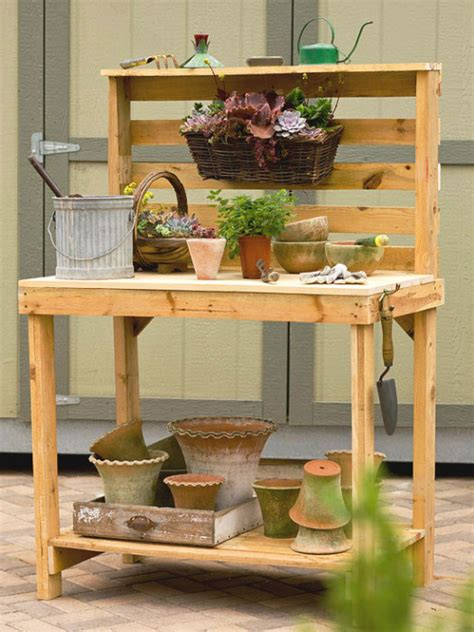 wood pallet potting bench 40 ecofriendly diy pallet ideas for home decor more