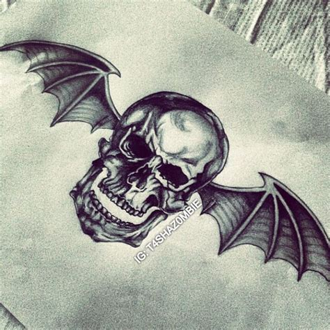 a7x tattoo designs original deathbat drawing instagram t4shaz0mbie