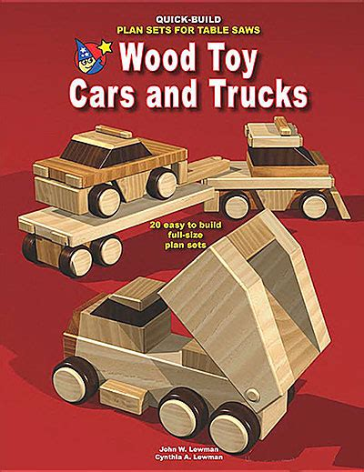 how to build a car books wood cars and trucks build plan sets for table