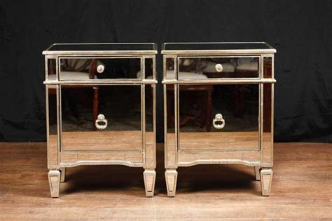 nachtkonsole spiegel pair mirror bedside cabinets tables chests nightstands