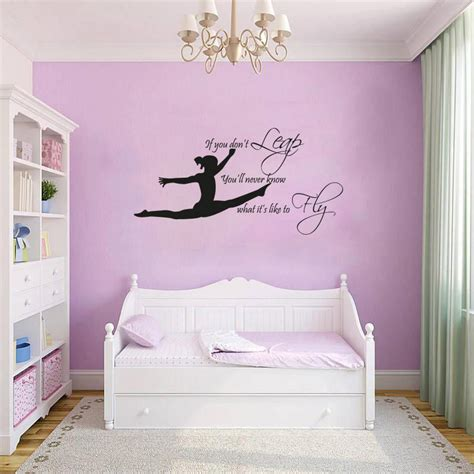 gymnast gymnastic girls bedroom quote vinyl wall art