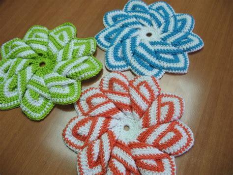 Handmade Crochet Flowers - crochet 3d flower with 9 petals make handmade crochet