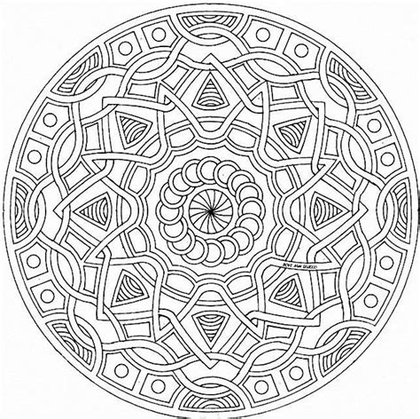 difficult mandala coloring pages printable mandalas coloring pages