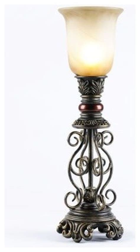 Traditional Bedroom Decorating Ideas - scroll uplight traditional table lamps by kirkland s
