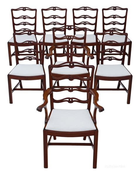 set of 8 6 2 georgian mahogany dining chairs antiques