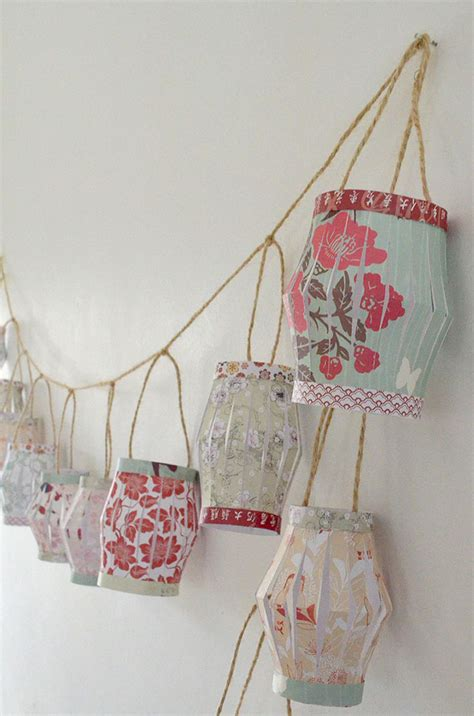 Make Your Own Paper Garland - diy paper lantern garland ao lifestyle