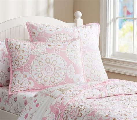 pottery barn kids bedding paige unicorn sheet set pottery barn kids