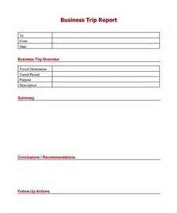 Best Report Format Template Sample Trip Report 9 Documents In Pdf