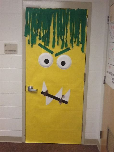 mustache and googly eyes door decor the 25 best monster door decoration ideas on pinterest