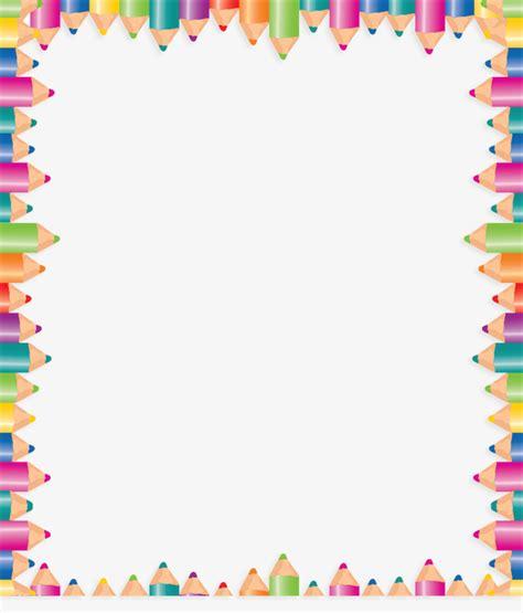 border color html color pencil border frame colored border pencils border