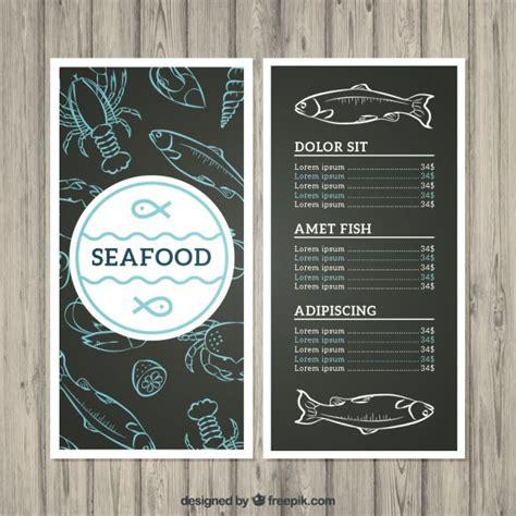 seafood menu template seafood menu vector free