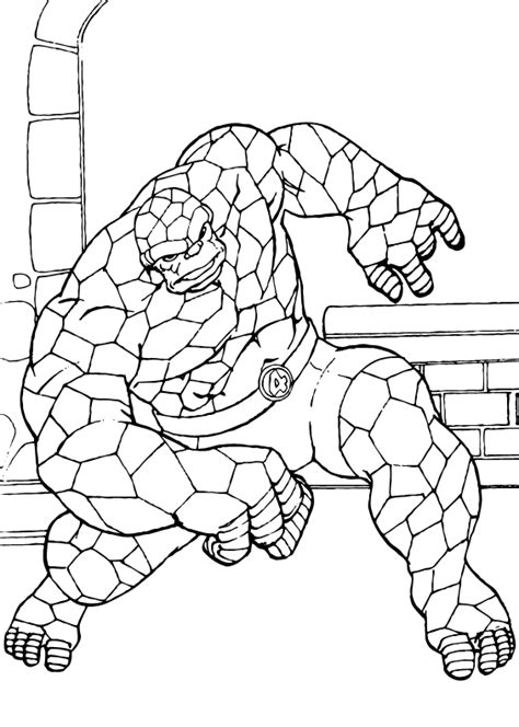 The Thing Coloring Pages The Thing The Thing Coloring Pages