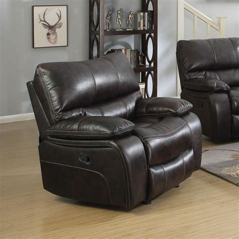 recliner lumbar support coaster willemse 601933 casual glider recliner with lumbar