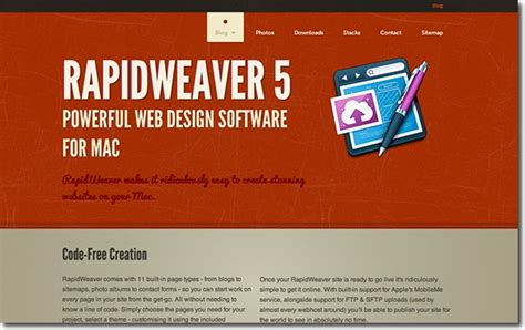 rapidweaver themes exles rapidweaver and nobility professional html editor and