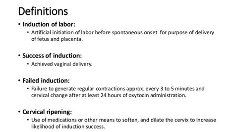 define induction of labour induction of labor