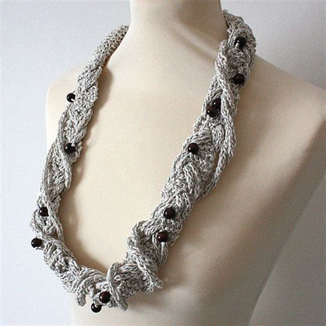 Braiding Cord Patterns - knitting pattern pdf file necklace three cords braiding