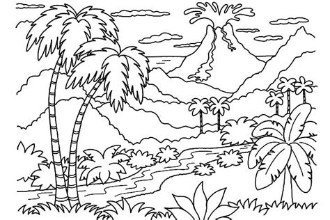 free printable volcano coloring pages wonderful landscape nature coloring pages womanmate com