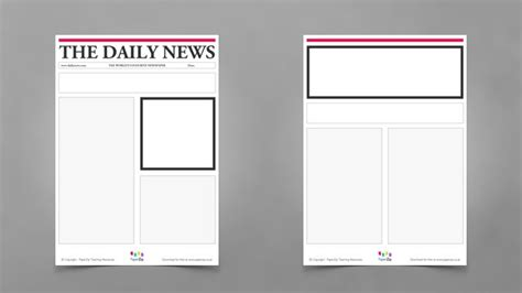 nespaper template blank newspaper templates