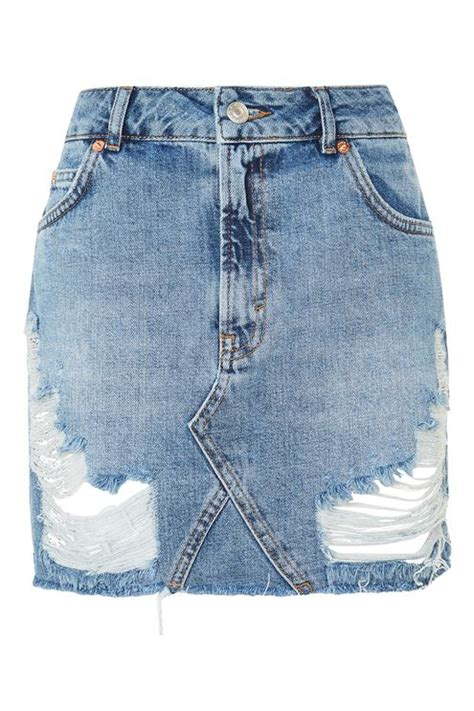 moto rip denim mini skirt topshop