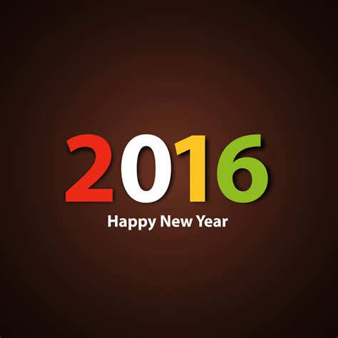 new year 2016 graphic design happy new year 2016 colorful background free vector in