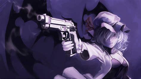 Anime Gun Wallpaper Wallpapersafari Anime Anime Gun Touhou Remilia Scarlet