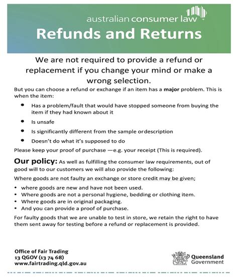 returns policy template return policy template template business