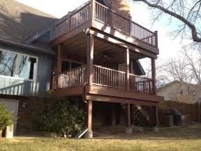two story deck outside adroit building services loveland co