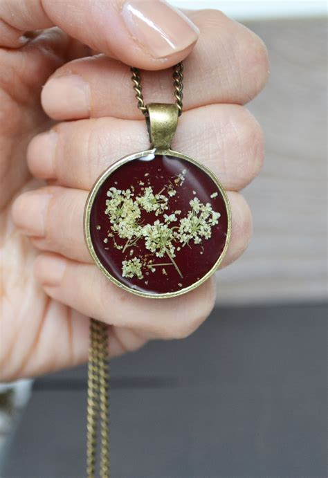 resin flowers for jewelry annes flower necklace resin jewelry real flower