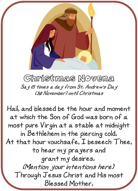 printable christmas novena novena raising teaching little saints