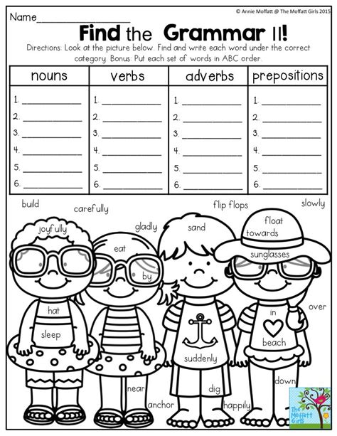 coloring page parts of speech beginner 74 coloring page parts of speech beginner subject