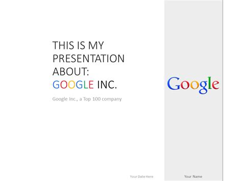 Google Inc Powerpoint Template White Presentationgo Com Best Powerpoint White Templates