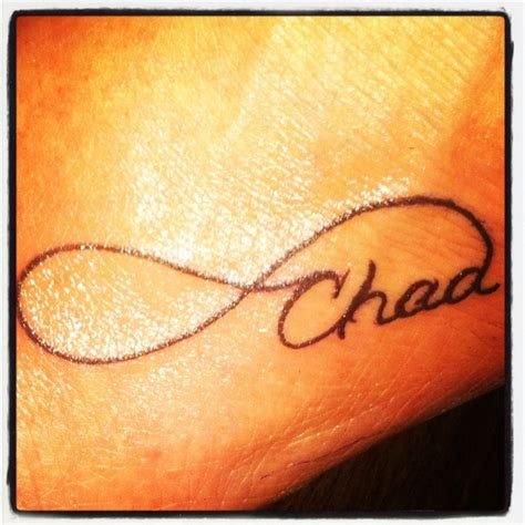 husband name tattoos infinity with husbands name tat2z the a