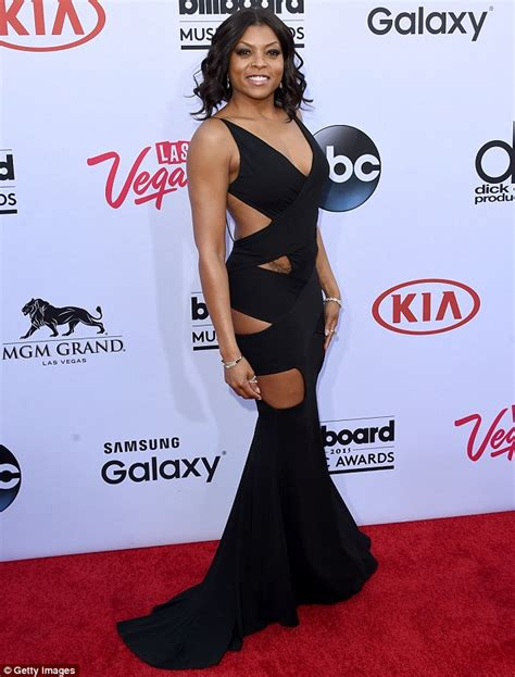 Taraji P Henson Black Dress Cut Out | taraji p henson wears cut out dress to billboard music