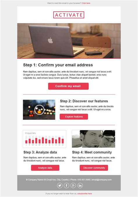 Https Stlia Com Html Email Template Transactional Emails Welcome Message Activate Welcome Email Template Html Free