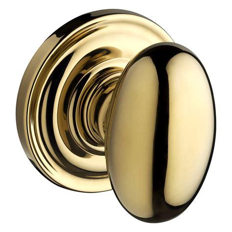 Baldwin Dummy Door Knobs by Shop Baldwin Reserve Ellipse Lifetime Polished Brass Dummy Door Knob At Lowes