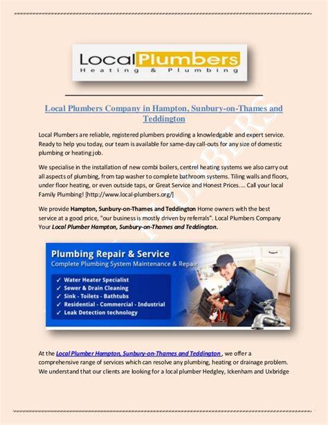 Local Plumbing Companies Local Plumbers Company In Hton Sunbury On Thames And