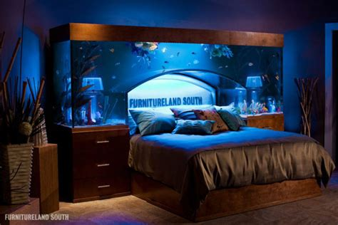 fish tank bed headboard a massive custom made seawater aquarium headboard